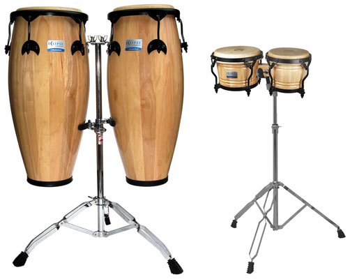 Rhythm Tech Eclipse Conga Bongo Set with Stands