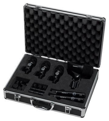 AKG Groove Pack 6 Piece Drum Microphone Package with Case