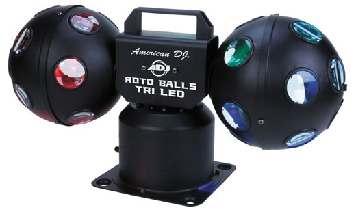 American DJ Rotoballs Tri LED DJ Lighting Effect