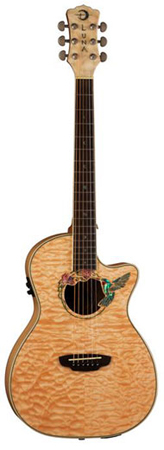 Luna FAUHUM Fauna Hummingbird Acoustic Electric Guitar