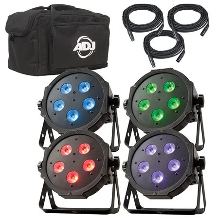 American DJ Mega Flat Tri Pak Plus Stage Lighting System