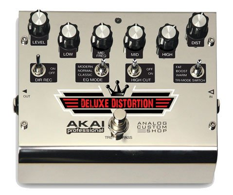 Akai Deluxe Distortion Guitar Effects Pedal