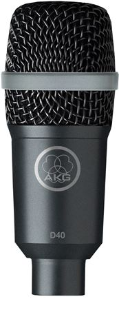 AKG D40 Professional Cardioid Dynamic Instrument Microphone