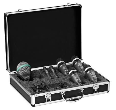 AKG Drumset Concert 1 Professional Drum Microphone Package With Case
