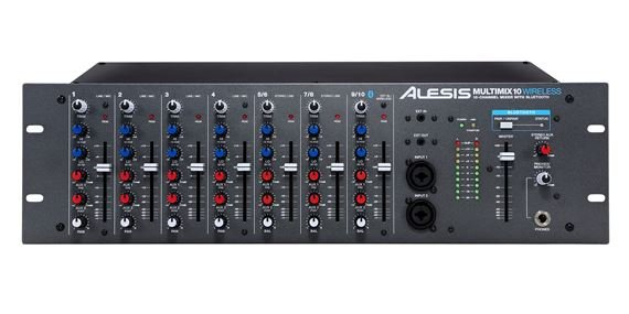 Alesis MultiMix10 Wireless Ten Channel Rackmount Mixer with Bluetooth
