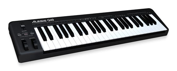 Alesis Q49 49 Key USB MIDI Synth Action Compact Keyboard Controller