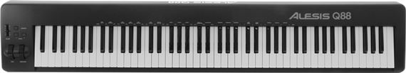 Alesis Q88 88 Key USB MIDI Semi Weighted Full Size Keyboard Controller