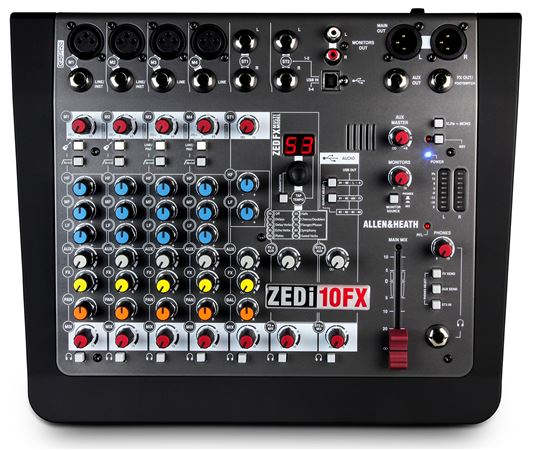 Allen And Heath Zed-i10 FX Compact 8-Channel USB Mixer With DI And FX