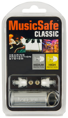 Alpine Hearing Protection MusicSafe Classic Ear Plugs