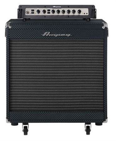 Ampeg Portaflex PF800 Head and PF210HE Cab Bass Amp Stack