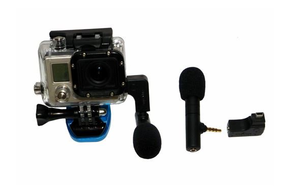 AmpRidge MightyMic G GoPro Shotgun Condenser Microphone