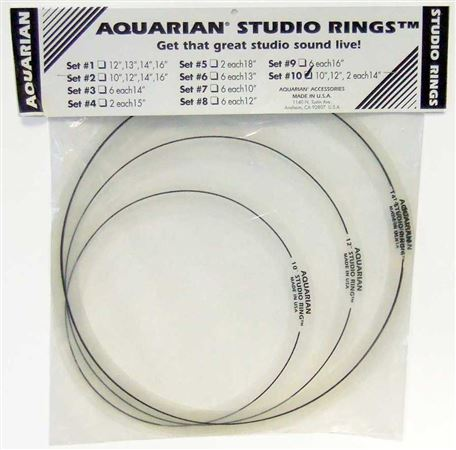 Aquarian Studio Rings Set 1 12/13/14/16 Inch