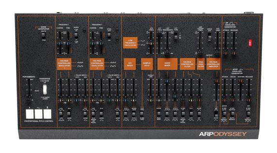 Arp Odyssey Module Rev 3 Desktop Synthesizer in Black