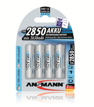 Ansmann AA NiMH Rechargeable Battery 4 Pack