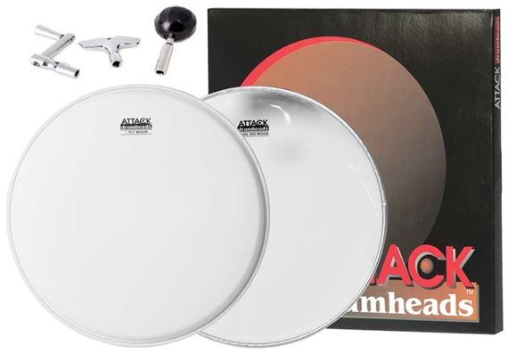 Attack Snare Tune Up Pak 14 Inch Medium Coated Snare Side Trio Key PAK