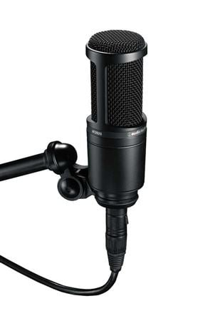 Audio Technica AT2020 Cardioid Large Diaphragm Condenser Microphone