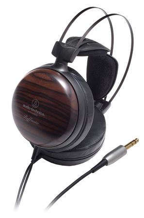 Audio-Technica ATHW5000 Audiophile Striped Ebony Wooden Headphones