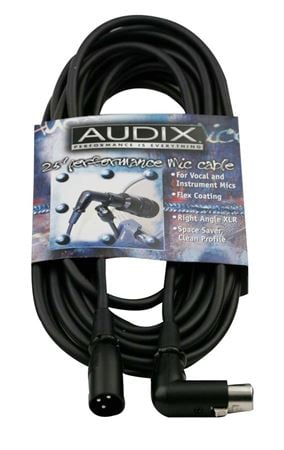 Audix CBLDR25 25' Right Angle XLR Microphone Cable