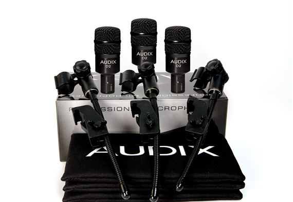 Audix D2 Trio Microphone 3 Pack With DVice Clamps