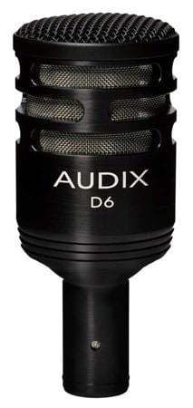 Audix D6B Large Diaphragm Cardioid Dynamic Kick Drum Microphone Black
