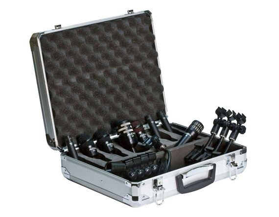 Audix DPElite 8 Eight Mic Drum Package With Case And Clamps