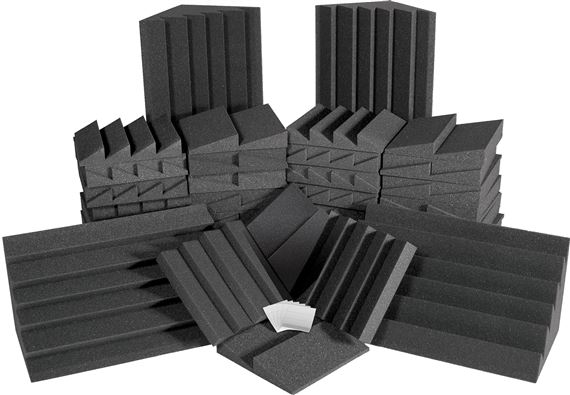 Auralex AlphaDST Roominator Studiofoam Acoustic Foam Room Kit Charcoal