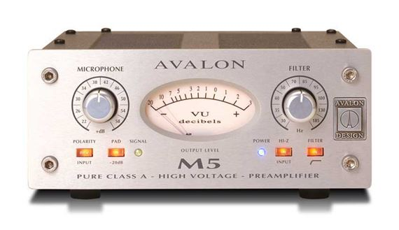 Avalon Design M5 Pure Class A Microphone Preamp