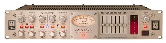 Avalon Design Vt747SP Class A Tube Stereo Compressor And Equalizer