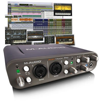 Avid Pro Tools MP wFast Track Pro USB Interface Studio Bundle