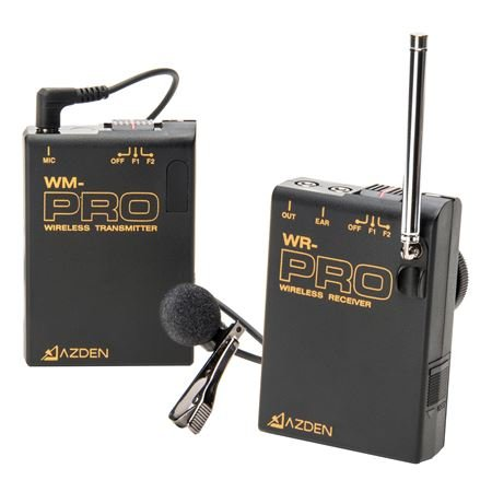 Azden WLX-PRO Wireless Lapel Mic System For DSLR Camera