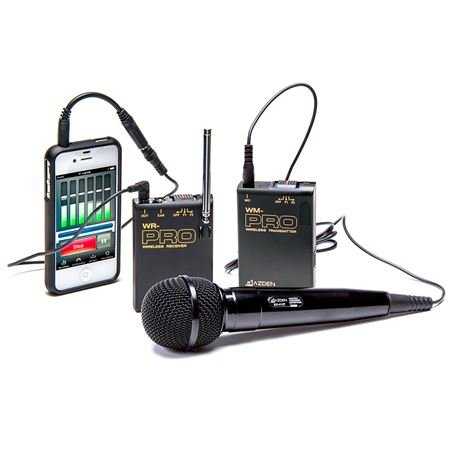 Azden WMS-PRO i VHF Wireless Mic System for Smartphones And Tablets