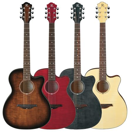 review bc rich bcr3 fm flame maple acoustic electric guitar. Black Bedroom Furniture Sets. Home Design Ideas