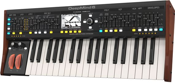 Behringer DEEPMIND 6 Analog 6-Voice Polyphonic Synthesizer Keyboard