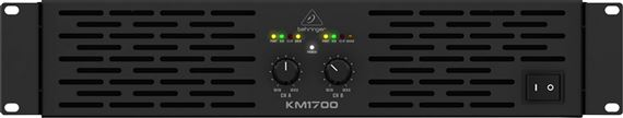 Behringer KM1700 Professional 1700 Watt Stereo Power Amp with ATR
