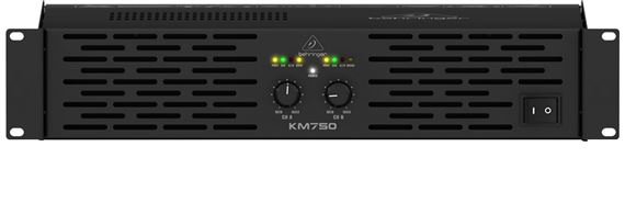 Behringer KM750 Professional 750 Watt Stereo Power Amplifier with ATR