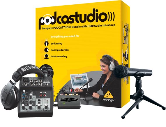Behringer Podcastudio USB Podcast Recording Package
