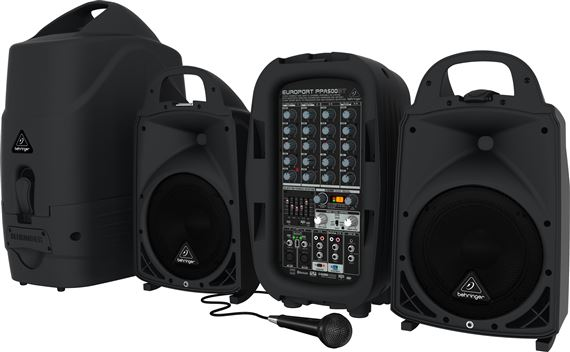 Behringer Europort PPA500BT Portable PA System with Bluetooth