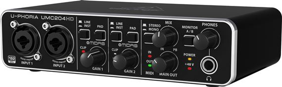 Behringer U-Phoria UMC204HD 2x4 USB Audio Interface