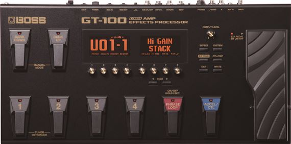 Boss GT100 Guitar Amp and Effects Floor Processor