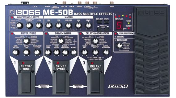 Boss ME50B Bass Guitar Multieffects Pedal