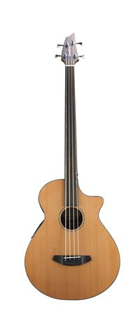 Breedlove Solo Fretless Acoustic Electric Bass Cedar Rosewood with Bag