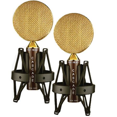 Cascade FatHeadII Stereo Pair Ribbon Mic with Lundahl Transformer