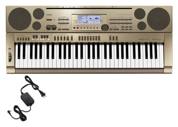 Casio AT3 61 Key Oriental Keyboard with Power Supply