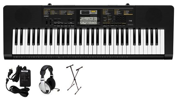 Casio CTK2400 61 Key Portable Keyboard Premium Package