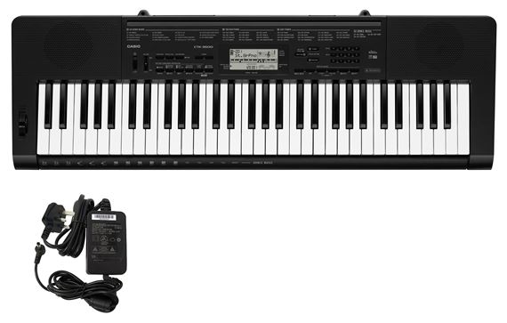 Casio CTK3500 61 Key Keyboard with PS