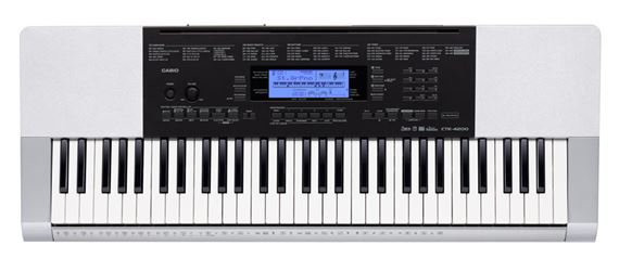 Casio CTK4200 61 Key Portable Personal Keyboard wPower Supply
