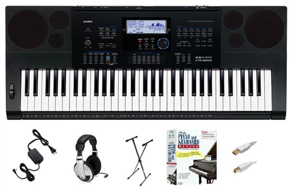 Casio CTK6200 Learn to Play Keyboard Package