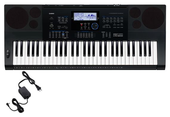 Casio CTK6200 61 Key Portable Keyboard with Power Supply