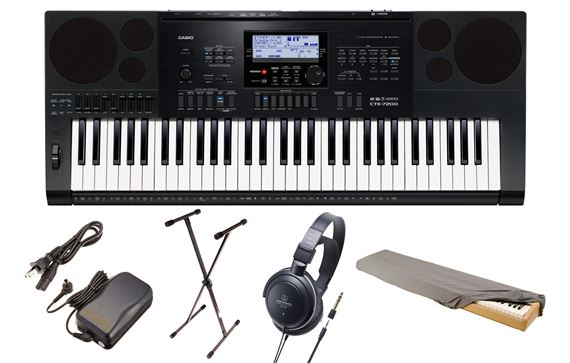 Casio CTK-7200 Premium Package Keyboard with Power Supply