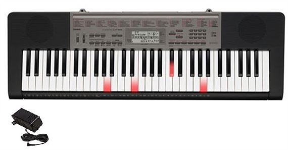 Casio LK165 61 Key Lighted Portable Keyboard with Power Supply